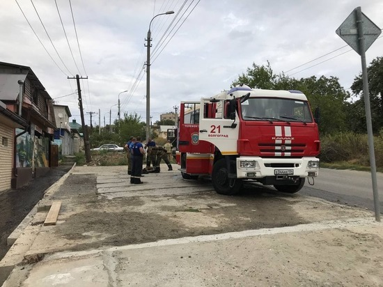 В поселке Ангарском в Волгограде произошел пожар в частной бане
