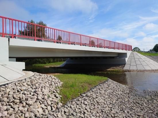 Капитальный ремонт моста завершили в Дедовичском районе