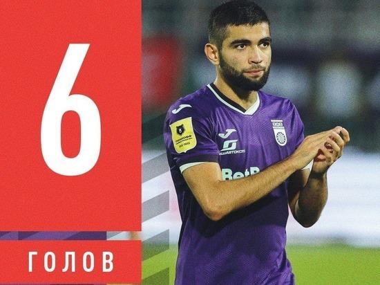 Дагестанский футболист возглавил список бомбардиров в РПЛ