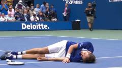 Опубликовано видео фееричной победы теннисиста Медведева на US Open