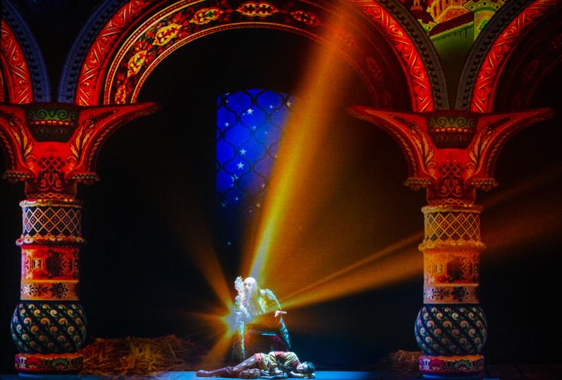 Конёк-Горбунок взлетел в звёздное небо над Санкт-Петербургом