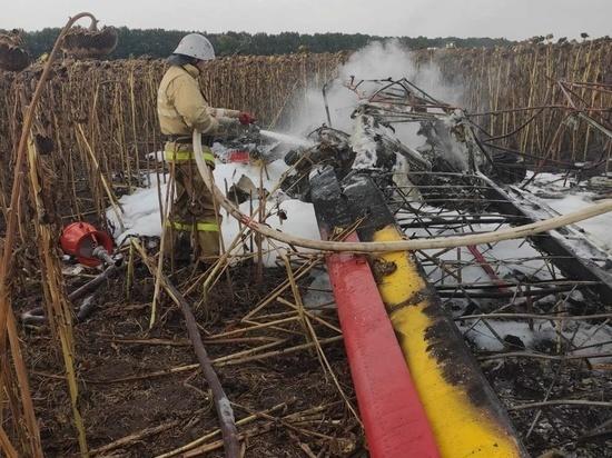 В Белгородской области разбился легкомоторный самолет, его пилот погиб