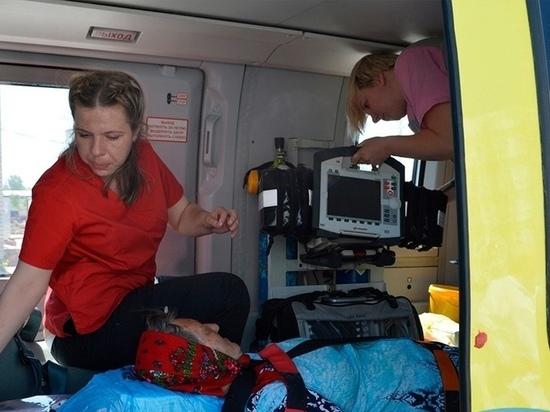 89 вылетов совершил в Курской области вертолет санавиации