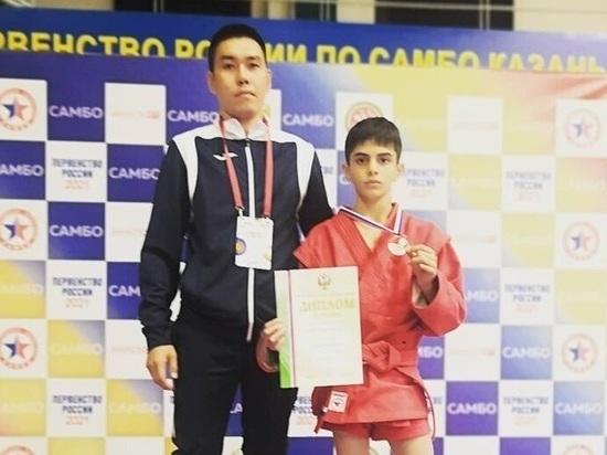 Юный самбист из Хакасии вошел в число призеров первенства России