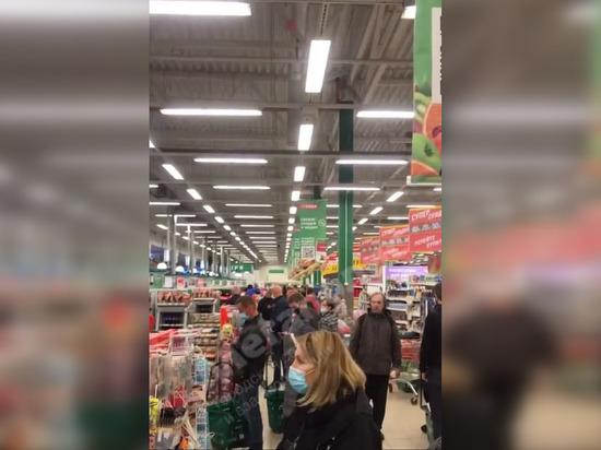 Кассы петербургских гипермаркетов «О'кей» отказались работать