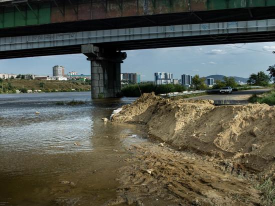 Уровень реки Селенга в пределах Улан-Удэ снижается