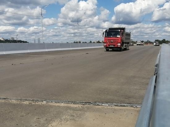 Вице-премьер Хуснуллин доложил президенту Путину об окрытии дороги-дамбы в Брянске