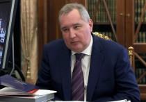 Генеральный директор «Роскосмоса» Дмитрий Рогозин после успешного запуска ракеты «Союз-2