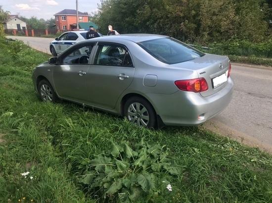Под Рязанью полицейские задержали пьяного водителя на Toyota Corolla