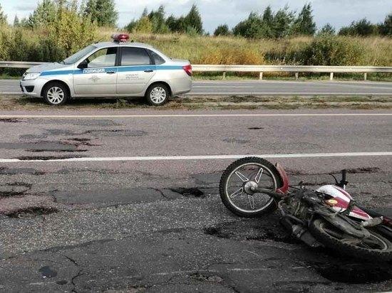 В Ивановской области пьяный водитель мопеда «вписался» в ограждение