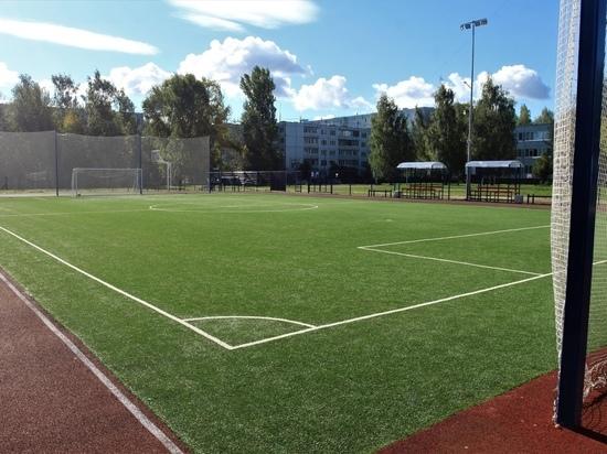 Вокруг нового стадиона у псковской школы установят ограждение