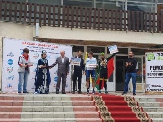 Российские велогонщики проехали 100 км к подножию Эльбруса