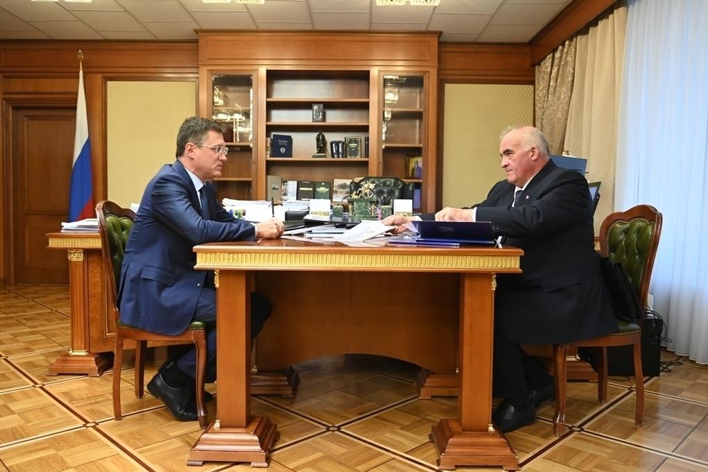 Сергей Ситников и Александр Новак обсудили процесс газификации Костромской области