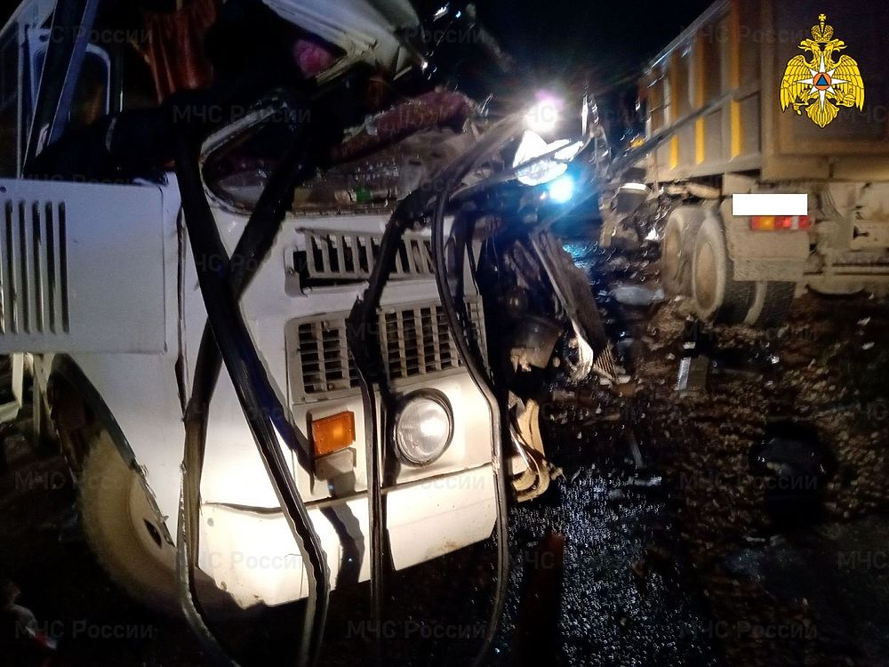 Появились первые кадры автокатастрофы с автобусом под Калугой