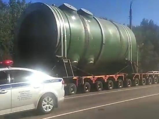 К Курчатову приближается атомный реактор для Курской АЭС-2 весом 350 тонн