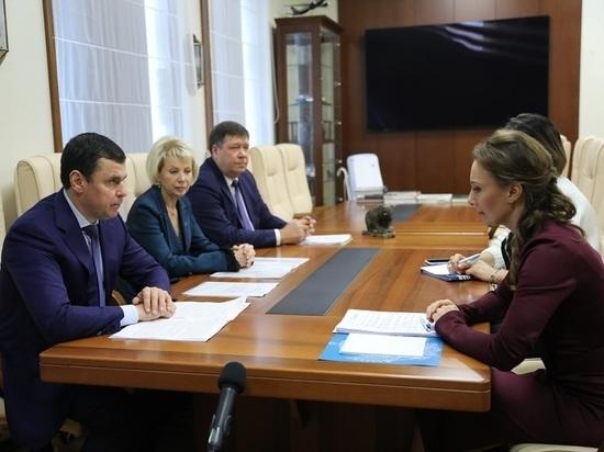Губернатор Ярославской области встретился с Анной Кузнецовой