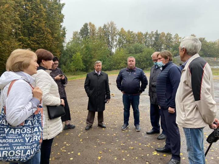 В Ярославле общественникам показали проект стадиона в Петропавловском парке photo