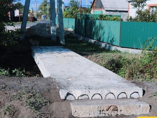 В Уварове построили новый переход через ручей
