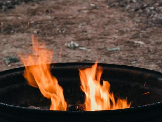 Жители Курска вместе с мусором сожгли сарай