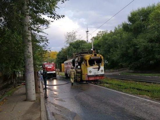 В Хабаровске сгорел трамвай