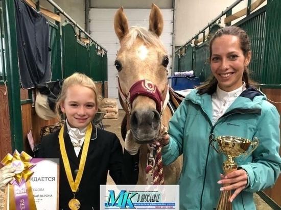 Юная ярославна Дарья Седова получили золотую медаль на всероссийском турнире по конному спорту