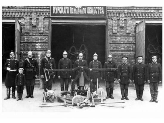 Пожарная охрана Курска отмечает годовщину образования