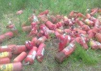 В окрестностях Магадана ликвидировали свалку огнетушителей