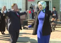 Глава Ингушетии Махмуд-Али Калиматов станцевал лезгинку на избирательном участке
