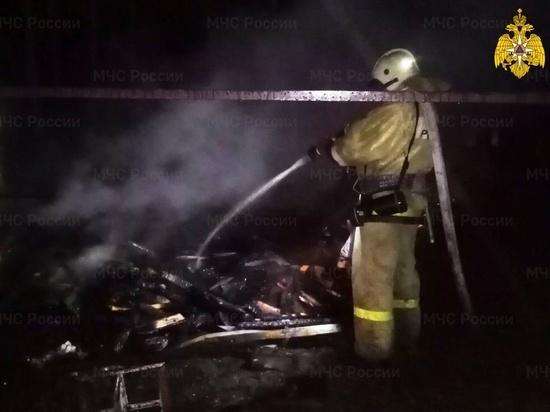 На пожаре вблизи Перемышля погиб человек