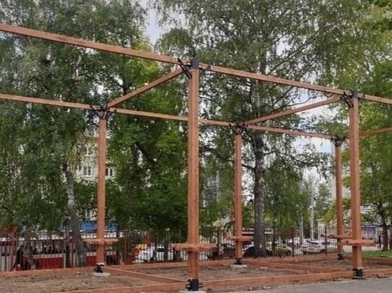 В Школе юных лётчиков в Ижевске начали строить веревочный парк