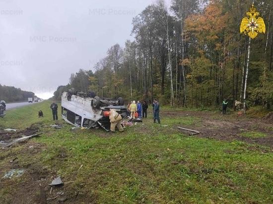 Шесть человек травмированы в ДТП с автобусом в Калужской области