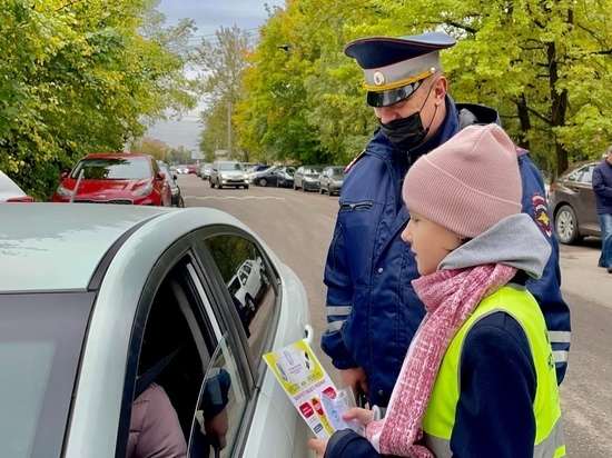 «Маленькие, но заметные» новгородцы отправились в рейд с госавтоинспекторами