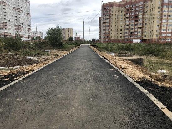 В Ярославле по просьбам жителей оборудовали новый тротуар