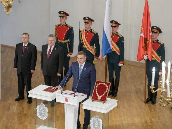 С клятвенной речи Алексей Дюмин начал новую пятилетку ударной работы в Тульской области