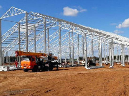 Металл ЧМК используют при строительстве сельхозобъектов в Татарстане