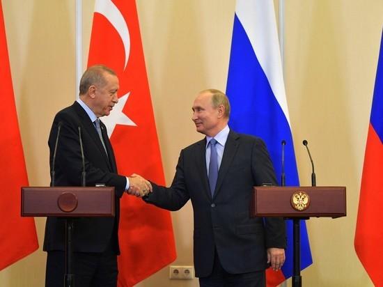 """Эрдоган анонсировал """"важные решения"""" на переговорах с Путиным"""