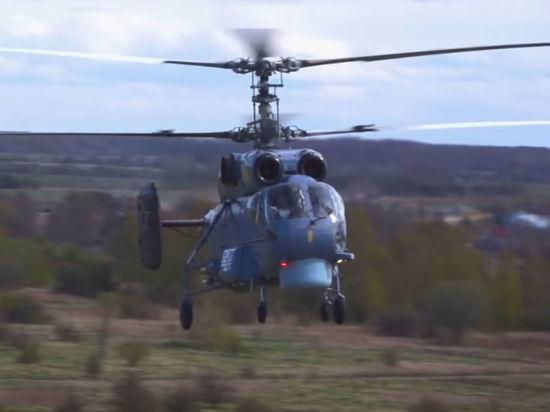 Вертолет Ка-27 упал на Камчатке