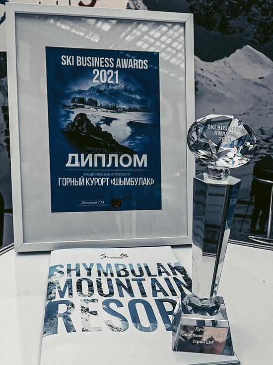 «Шымбулак» удостоен премии SKI BUSINESS AWARDS 2021 как «Лучший горнолыжный курорт стран СНГ»