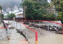 В Сочи вода затопила участок федеральной трассы в районе посёлка Вардане