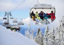 Курорты горного кластера Сочи, несмотря на непогоду, работают в штатном режиме