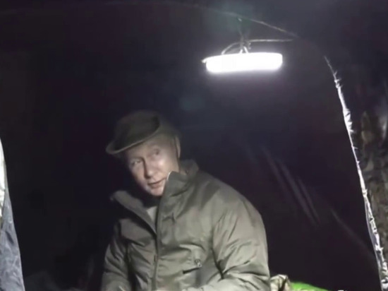 Президент Владимир Путин отдыхает в сибирской тайге