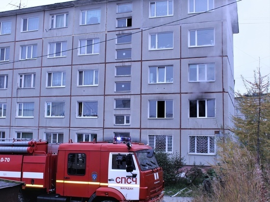 Квартира загорелась в Магадане в воскресенье
