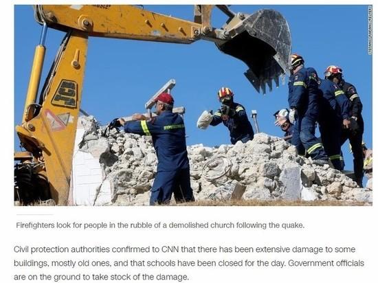 Один человек погиб в результате землетрясения 5,8 баллов на Крите