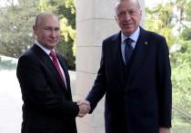 Переговоры Эрдогана и Путина в Сочи завершены