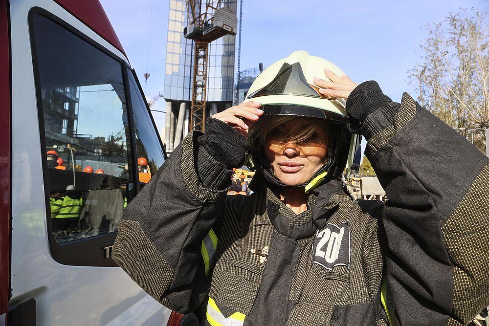 Огнеборцы провели учения в небоскребе Москва-Сити