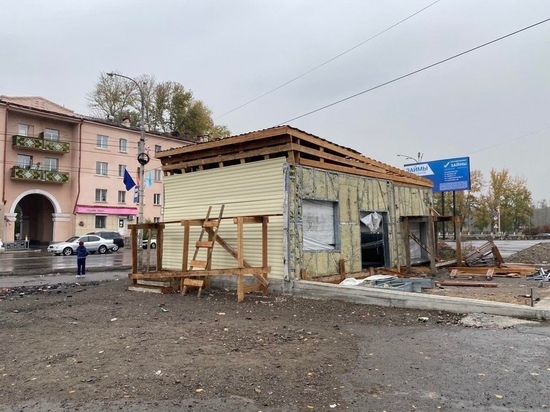 В Кызыле на остановке «Монгулек» появилась незаконная постройка
