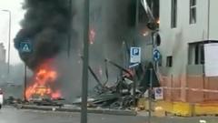 В Италии частный самолет упал на офисное здание