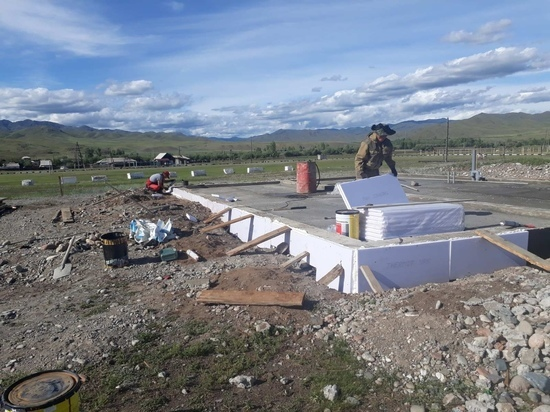 Еще в одном селе Тувы началось строительство ФАПа