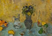В персональной выставке «По ту сторону натюрморта» Ольга Королева представляет две серии работ разных лет, объединенных общей пластической идеей