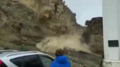 В Дагестане из-за дождей рухнула часть крепостной стены